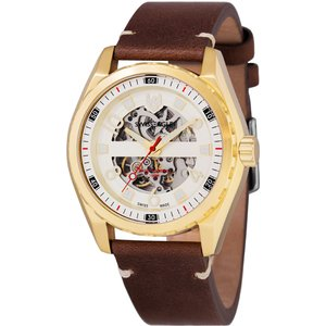 Swiss Eagle Gent's Engineer Automatic Watch With Genuine Leather Strap Iw481587