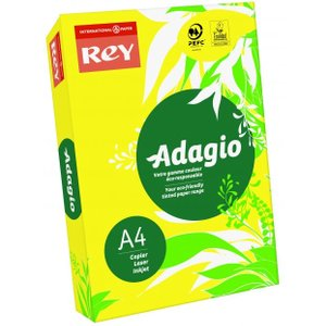 Rey Adagio A4 Paper 80gsm Deep Yellow Rm500 60642pc