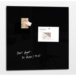 Sigel Artverum Magnetic Glass Board 1000x1000mm Black 54622sg
