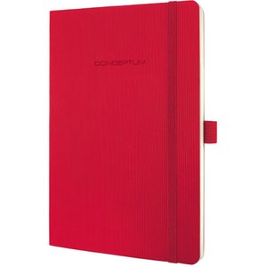 Sigel Conceptum Notebook Softcover Lined 135x210x14mm Red 54335sg