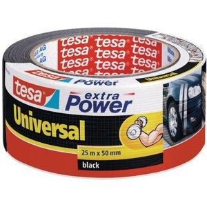 Tesa Extra Power Duct Tape 50mmx25m Black 56388 Pk6 34511te