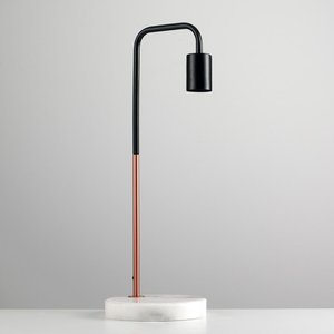 Copper Desk Lamp With Marble Stone Base Lamp1