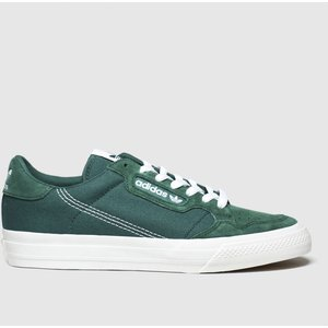 Adidas Dark Green Continental 80 Vulc Trainers 3400124150 410, Dark Green