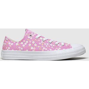 Converse Pink Lo Floral Trainers Youth 8706353570 360, Pink