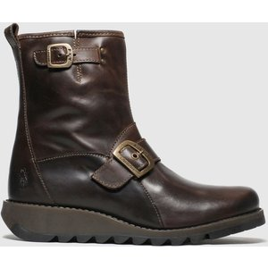 Fly London Brown Sino Boots 1452376020 410, Brown