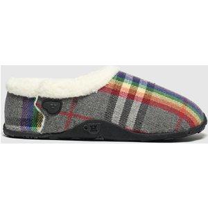 Homeys Grey & Red Bella Slippers Multi 1799049970 380, Multi