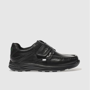 Kickers Black Reasan Strap Shoes Junior 5301777020 350, Black