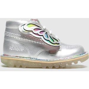 Kickers Silver Kick Hi Faeries Boots Toddler 8204657620 300, Silver
