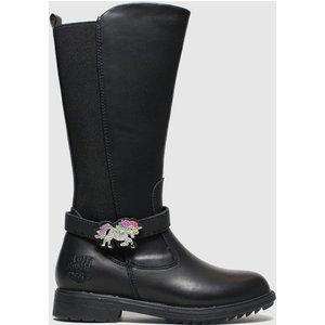 Lelli Kelly Black Marylin Boots Junior 8301547020 300, Black