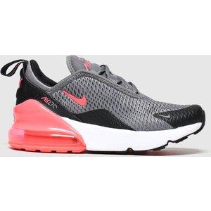 Nike Grey Air Max 270 Trainers Junior 8605557560 290, Grey