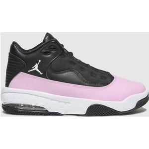 Nike Jordan Black & Pink Jordan Max Aura 2 Trainers Youth Black/pink 8719129320 370, Black/pink