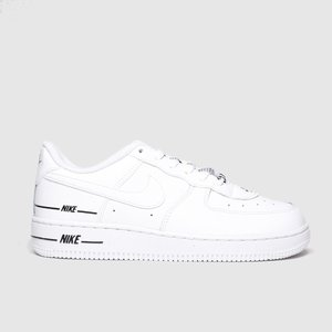 Nike White & Black Air Force 1 Lv8 3 Trainers Junior White/black 2614351220 310, White/Black