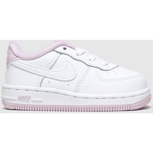 Nike White & Pink Air Force 1 Trainers Toddler White/pink 8503192320 175, White/Pink