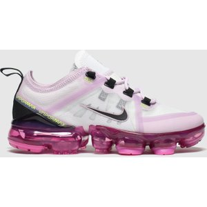 Nike White & Pink Air Vapormax 2019 Trainers Youth White/pink 8714042360 370, White/Pink