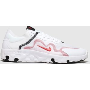 Nike White & Red Renew Lucent Trainers White/red 3406181360 430, White/Red