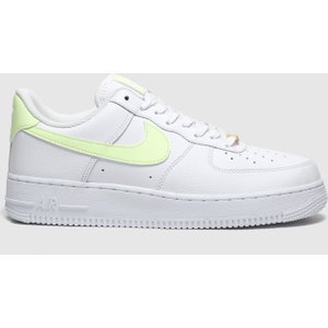 Nike White & Yellow Air Force 1 07 Trainers White/yellow 1959102720 370, White/Yellow