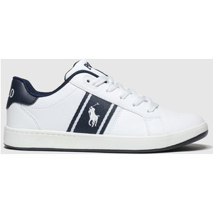 Polo Ralph Lauren White & Navy Quigley Boots Youth White/navy 5411931660 365, White/navy