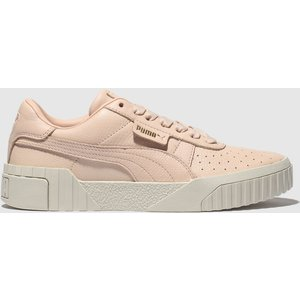 Puma Pale Pink Cali Leather Trainers 1968603320 360, Pale pink