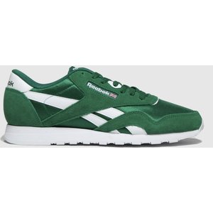 Reebok Green Classic Nylon Trainers 3409984050 420, Green
