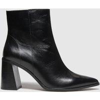Schuh Black Blaire Leather Point Boots 1430047020 380, Black