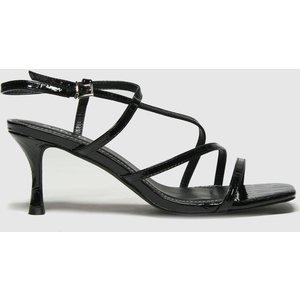 Schuh Black Sadie Strappy Mid Heel High Heels 1125567060 400, Black