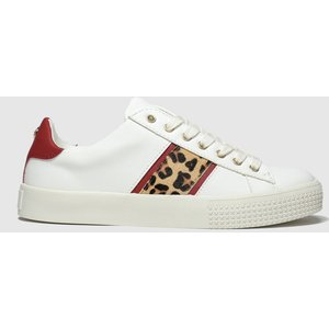 Schuh White & Red Flawless Trainers White And Red 1326411360 370, White and Red