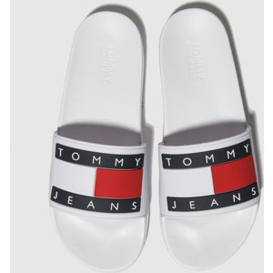 Tommy Hilfiger White Tj Flag Pool Slide Sandals 1778141060 410, White