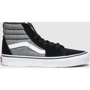Vans Black & Grey Sk8-hi Zip Trainers Junior Black/grey 5603937150 315, Black/grey