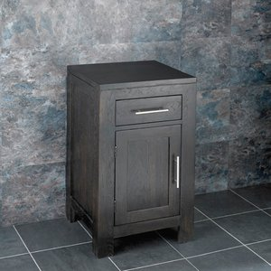 Dark Oak Bathroom Storage Cabinet Cloakroom Vanity Unit 800mm Tall Single Door Alta 3014 Bathroom Sinks & Taps