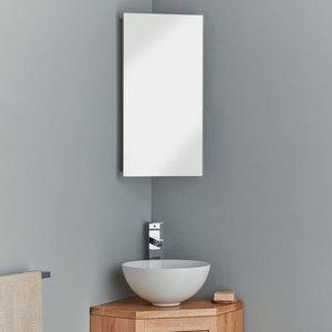 Space Saving Corner Mirror Cabinet With Internal Mirror 300 X 600 Reims 3248 Bathroom Sinks & Taps