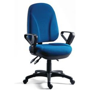 Chair - Executive Operator Blue, High Back With Arms Chairs
