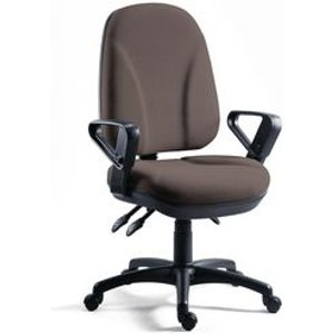 Chair - Executive Operator Charcoal, High Back With Arms Chairs