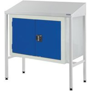 Sloping Top Teamleader Workstation With Double Cupboard 1060.1000.600 Tables