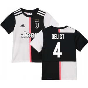 2019-2020 Juventus Adidas Home Shirt (kids) (de Ligt 4) P 155370 2653 Football
