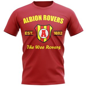 Uksoccershop Albion Rovers Established Football T-shirt (red) P 130694 27162