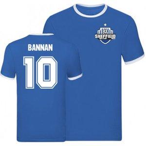 Uksoccershop Barry Bannan Sheffield Wednesday Ringer Tee (blue) P 170144 3784 Football