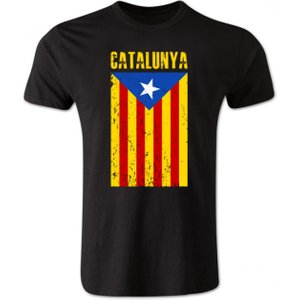 Gildan Catalonia Flag T-shirt (black) P 102931 3784 Football