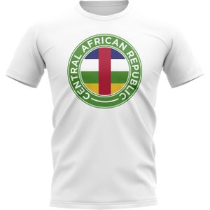 Uksoccershop Central African Republic Football Badge T-shirt (white) P 135795 27166