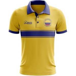 Airo Sportswear Colombia Concept Stripe Polo Shirt (yellow) P 136497 3434 Football