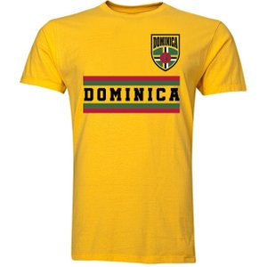 Uksoccershop Dominica Core Football Country T-shirt (yellow) P 127234 3786