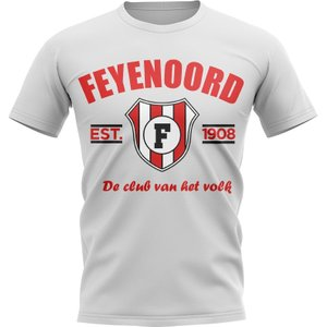 Uksoccershop Feyenoord Established Football T-shirt (white) P 135344 3779