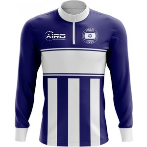 Airo Sportswear Israel Concept Football Half Zip Midlayer Top (navy-white) P 130253 3515
