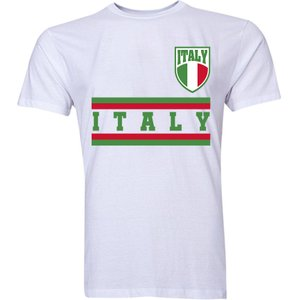 Uksoccershop Italy Core Football Country T-shirt (white) P 127356 3782