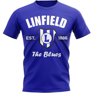 Uksoccershop Linfield Established Football T-shirt (blue) P 135447 3783