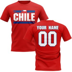 Uksoccershop Personalised Chile Fan Football T-shirt (red) P 167953 3786