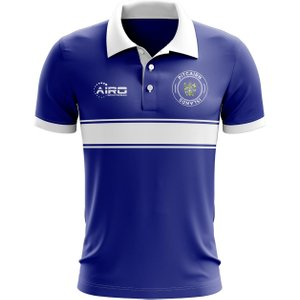 Airo Sportswear Pitcairn Islands Concept Stripe Polo Shirt (blue) P 136701 3431 Football