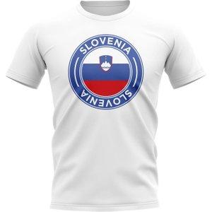 Uksoccershop Slovenia Football Badge T-shirt (white) P 136827 27161