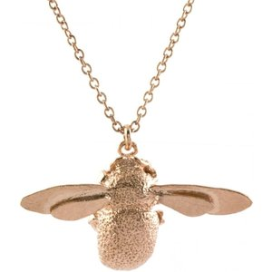 Alex Monroe Bumblebee Necklace, Rose Gold Plated Osn1 Rgp