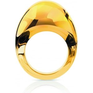 Lalique Cabochon Amber Ring, Size 55 6550700