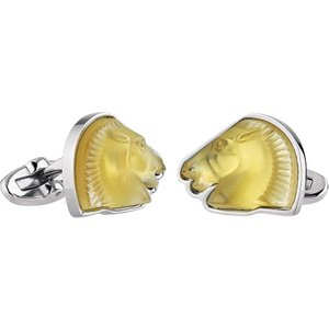 Lalique Cheval Mascottes Amber Cufflinks 10604600